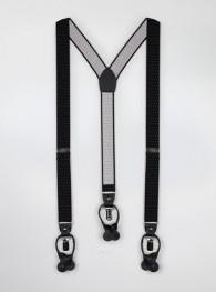 Hosenträger elastisch schwarz Pünktchen