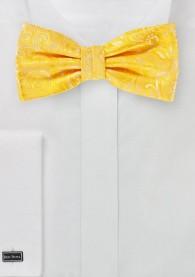 Herren-Herren-Schleife mit Paisley-Muster in gelb