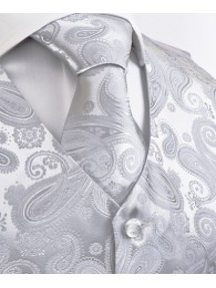 Paisleymuster Hochzeit Silber / Grau Lorenzo