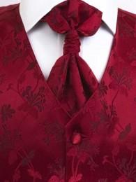 Hochzeitsweste Blumenmuster rot