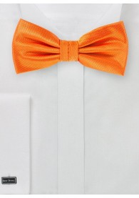 Herrenschleife uni strukturiert orange