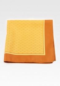 Kavaliertuch Treppenmuster orange