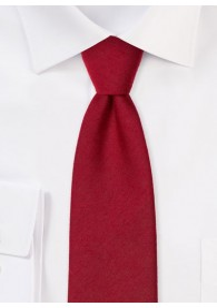 Businesskrawatte monochrom melierte Oberfläche rot