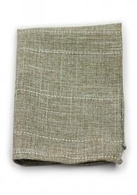 Einstecktuch Baumwolle meliert olivgrün