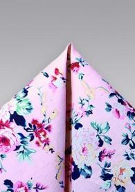 Ziertuch Baumwolle Blumenmotiv mattblau
