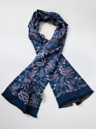 Krawattenschal  Paisley-Muster marineblau