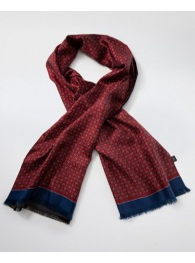 Krawattenschal Paisley-Motiv rot