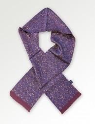 Krawattenschal kleines Paisleymotiv braunrot