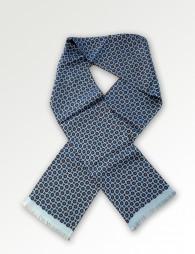 Krawattenschal Ornamente himmelblau