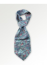 Plastron mit Paisley-Muster in rot