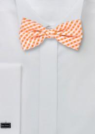 Herren-Schleife Vichy-Karo orange weiß