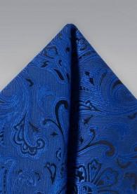 Ziertuch verspieltes Paisley blau