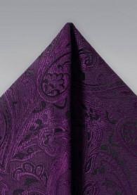 Ziertuch überschäumendes Paisley-Motiv violett
