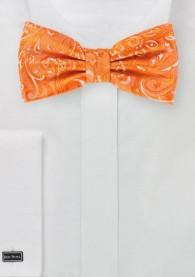 Fliege schwungvolles Paisley-Muster orange
