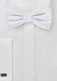 Herrenschleife stylisches Paisleymuster weiß