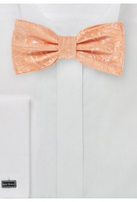 Fliege modernes Paisley-Muster apricot