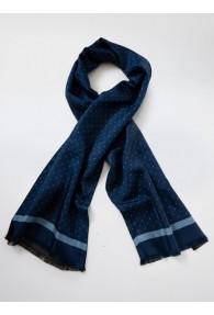 Krawattenschal Doubleface Pünktchen nachtblau