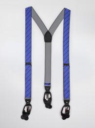 Hosenträger elastisch blau rot gestreift