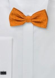 Herren-Schleife Paisleymuster Ton in Ton orange