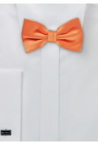 Herrenschleife einfarbig Kunstfaser orangerot