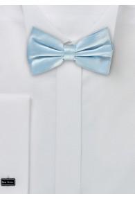 Herren-Schleife Seide einfarbig hellblau