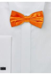 Herren-Schleife Seide unifarben orange