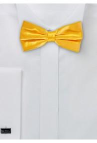 Herrenfliege Seide monochrom gelb