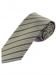 Streifen-Krawatte braungrün weiß