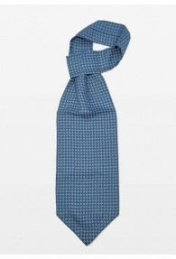 Schal-Ascot Ornament-Dessin nachtblau