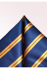 Einstecktuch Streifen dunkelblau orange