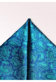 Kavaliertuch Paisleymotiv marineblau blaugrün