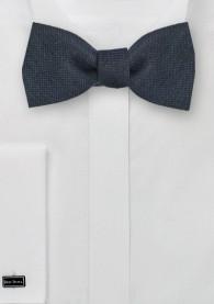 Selbstbinder-Fliege Wolle schwarzblau