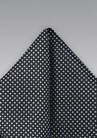 Einstecktuch Punkte schwarz silber