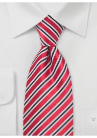 Krawatte Streifendessin rot
