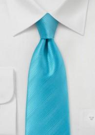 Krawatte türkis unifarben Streifen