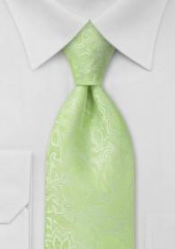 Herrenkrawatte Rankenmuster blassgrün