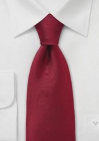 Einfarbige Krawatte mit Rippsstruktur in Rot