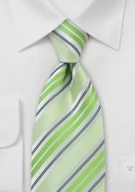Krawatte Streifenstruktur grasgrün