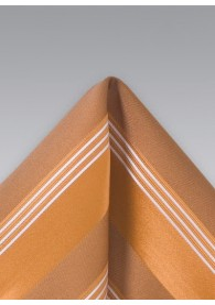 Einstecktuch Streifenmuster Kupfer