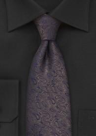 Krawatte Paisleys nussbraun Überlänge