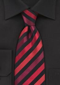 XXL-Businesskrawatte Streifenstruktur schwarz