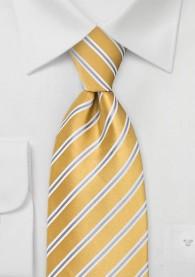 Krawatte Streifen gelb silber