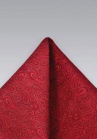 Einstecktuch Paisleys rot