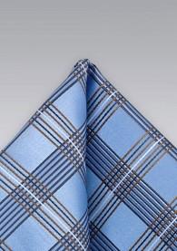 Einstecktuch Schottenkaro Blau