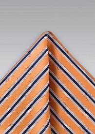 Einstecktuch Streifenmuster kupfer-orange