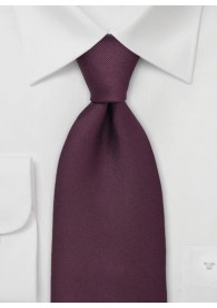 Krawatte bordeaux Luxus Ripsstruktur