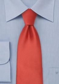 Mikrofaser-Krawatte monochrom rost