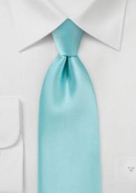 Mikrofaser-Krawatte monochrom mint
