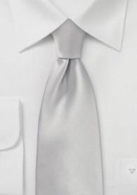 Mikrofaser-Krawatte monochrom silber