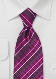 Krawatte Pattern Kästen Magenta